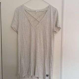 ❗️PRICE DROP❗️PINK light grey shirt