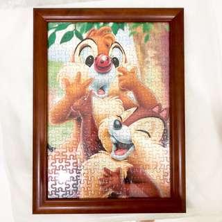 Disney Chip and Dale 松鼠 迪士尼 Puzzle 砌圖 拼圖 相框