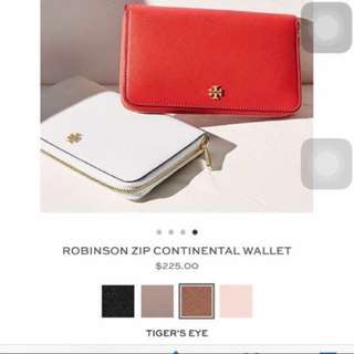 Tory Burch Leather Zip Wallet