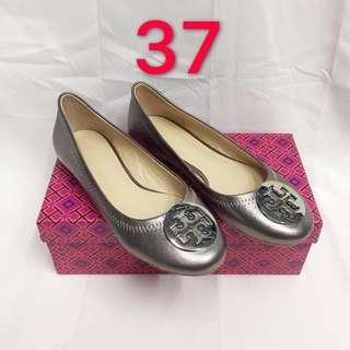 Tory Burch Silver Ballet Flats size 37 ONHAND