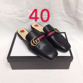 GUCCI SLIP ON LEATHER SIZE 40 ONHAND