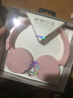 Headphone miniso pink