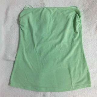 Free Shipping !! Nichii Size M Lime Green Tube Tops