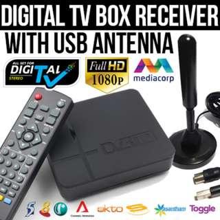 2018 Mediacorp Digital TV Box with USB Antenna (DVB-T2) ★ CHEAPEST ON CAROUSELL!