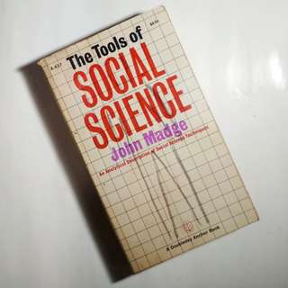 The Tools of Social Science