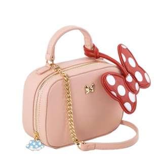 🔆預訂🔆迪士尼 disney 米妮 Minnie Mouse Grace gift  細袋 手挽袋 斜咩袋 pu皮袋 鍊袋
