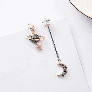 Instock solar (planet and moon) earring