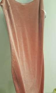 Forever 21 Pink Velvet Slip Bodycon dress