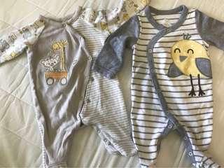 0-3m,3-6m baby sleep wear,?13pieces