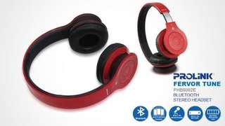 [BN] Prolink Fervor Tune Bluetooth Stereo Headset (Red) PHB6002E