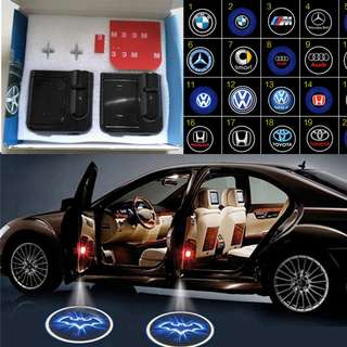 [Over 300+ Designs!!] Wireless Car Door Laser Light Projector. Courtesy Ghost Shadow Welcome Logo LED Lights. No Drilling Required.