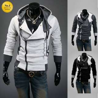 Assassin Creed Hoodie Jacket. Casual Slim Outerwear / Cardigan / Sweatshirt / Hooded Jacket / Mens Fashion