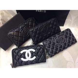 Chanel Zip Long Wallet