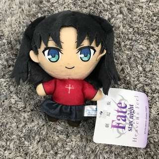 Fate stay night - rin tosaka soft toy plush doll stuffed mascot strap (heaven's feel)