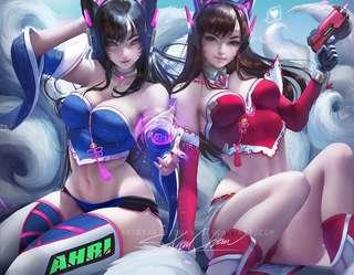 【presale】d.va ahri cosplay