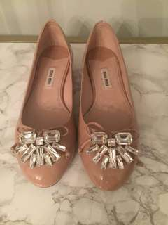 Miu Miu jewelled flats