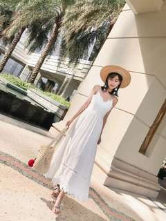 White Bohemian Lace Maxi Dress