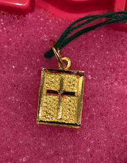 (Gold 916 Cross Pendent) + (Gold 999 - Gold Coin)
