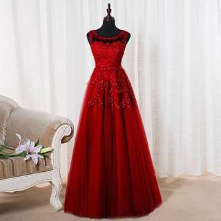 SOCCI Weekend wine red Appliques Lace Tulle Long Evening Dresses 2017 Formal Wedding Party Dress robe de soiree Bride Reception gown