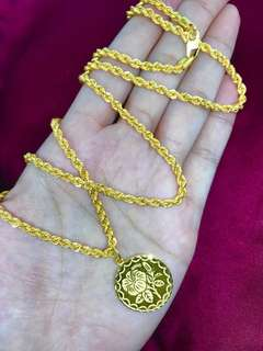[PO] 916 Gold Adult Necklace with pendant