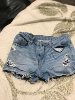 Nobody denim high waisted ripped shorts