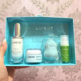 專櫃正品 Laneige White Dew Original Ampoule Essence Set 水光亮白精華套裝 (專櫃零售價:$405起)  Laneige 旅行套裝