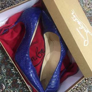 Christian Louboutin Decollete 554 Phyton Crystal