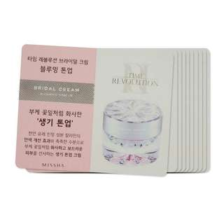 MISSHA TIME REVO Bridal Cream (Blooming Tone Up) sample