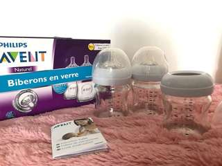 BN Avent Natural Glass with teats