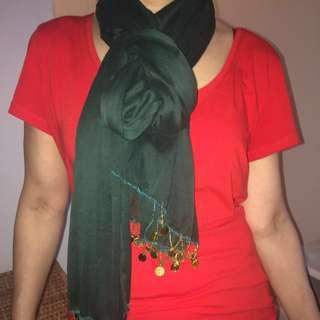 Green see through shawl