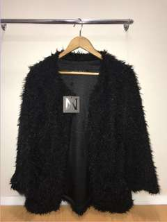 Meshki back fur coat