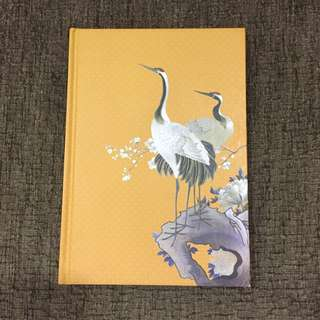 Notebook with Crane Pic
