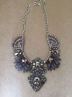 silver epa statement necklace