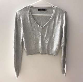 SPORTSGIRL Light grey cropped knit