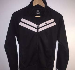 Black Vintage Nike Zip Up Sweater