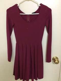 Maroon Aritzia Dress