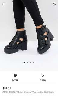 ASOS BOOTS (Price drop from $55)