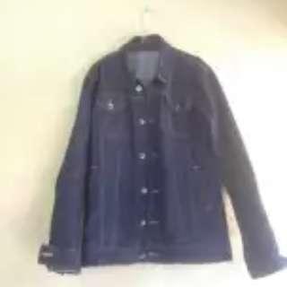 Blue black denim jacket