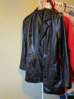 Leather coat . Danier brand.