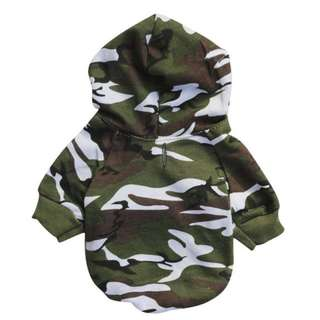 CAMO PUPPY HOODIE