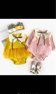 Baby girl long sleeved tutu romper infant newborn toddler