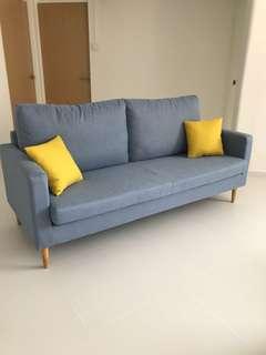 Brand new 3 seater sofa + ottoman