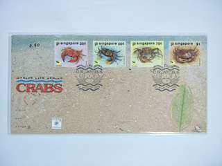 Singapore FDC Crab
