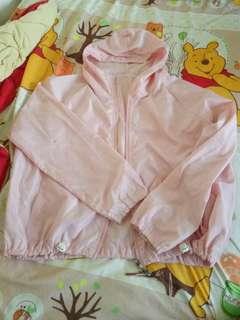 Pink Hooded Bomber Hoodie Jacket