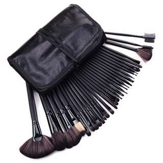 32pcs make up brush with pouch