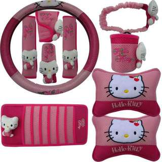 Hello Kitty 10 in 1 Car Accessories