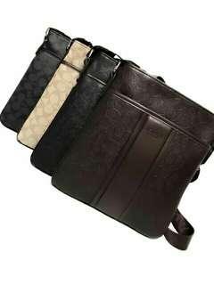 Coach Leather Men's Sling Bag