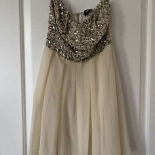 Want Boutique Cream Sequin Dress