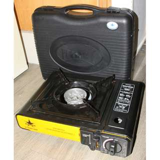Blue Star Portable Gas Stove w Plastic Carry Case