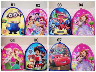 Goodie bag, goody bag, cartoon goodie bag, cartoon backpack